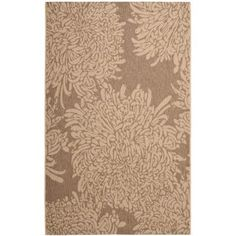Martha Stewart Living Martha Stewart Chrysanthemum Dark Beige / Beige 5 ft. 3 in. x 7 ft. 7 in. Area Rug - MSR4125B-5 - The Home Depot