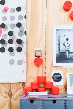 Joanna Fowles's colourful studio.  Photo - Phu Tang. Via @The Design Files