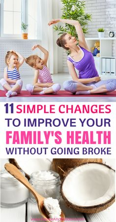 Healthy family habits don't have to cost us a lot of money or effort. We can make small changes in our everyday life that will lead to a healthy lifestyle for years to come.