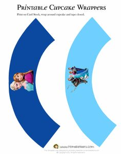 Cupcake wrappers FREE Frozen: Imprimibles y Tarjeter�a para Imprimir Gratis.