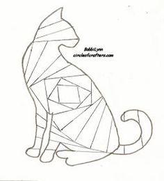 Cat pattern for iris folding