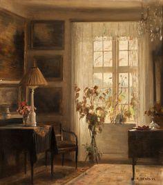 Interior; Карл Вильхельм Холсё (Carl Vilhelm Holsøe, 1863-1835) – датский художник, классик датской живописи.