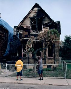 Squalor: Thousands of homes are due to be knocked down in Detroit as around a third of the city now lies empty