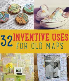 32 Inventive Uses for Old Maps | www.diyready.com/32-inventive-uses-for-old-maps/