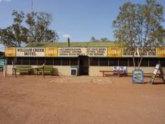 Outback Australia - William Creek Hotel / William Creek is surrounded by the Anna Creek Station, the world's largest working cattle station, with an area of roughly 6million acres (24,000 sq.km)