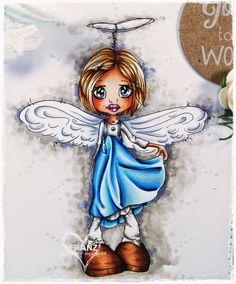 Copic Marker Europe: A Little Angel♥ Skin: E0000, E000, E00, E11, E13 Hair: E50, E53, E35, E37 Dress: B0000, B00, B02, B05, B37 Socks: W1, W2, W3 Shoes: E02, E13, E15, E18  Wings: C0, C1, C3 Background: W1, W2, W3, W5, BV23, 0