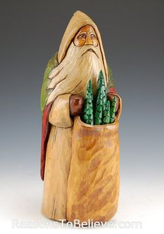 Windswept Santa - Al Longo Carving Board, Wood Carving Art, Wood Carvings, Father Christmas, Santa Christmas, Christmas Crafts, Christmas Decorations, St Claus, Cypress Knees