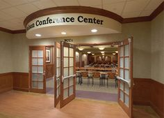 Entrance of the Nelson Conference Center at the Kettering Medical Center