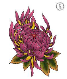 Crisantemo Tattoo, Asian Tattoos, Irezumi, Collage Art, Flower Art, Tattoo Designs, Sketches, Diy Crafts, Drawings