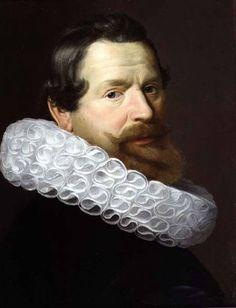 Dutch School - Portrait of a Man Wearing a Ruff