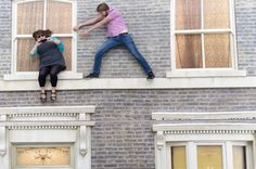 Leandro Erlich's 'Dalston House' - the optical illusion in London's East End by the Argentinian artist East End London, Optical Illusions, Spiderman, Photographs, History, Artist, House, Image, Spider Man