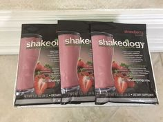 SHAKEOLOGY BEACH BODY Sample Pack Strawberry - 3 Packets Exp 5/2018  | eBay