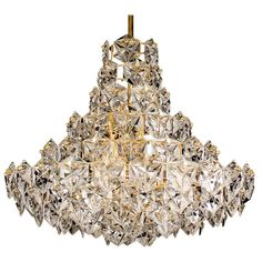Kinkeldey Crystal Chandelier Suspension Lustre Lampara Hanglamp Lampadario | From a unique collection of antique and modern chandeliers and pendants  at https://www.1stdibs.com/furniture/lighting/chandeliers-pendant-lights/