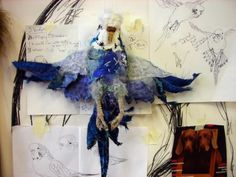 the art room plant: Textile Artist Karen Suzuki   specializes in the marginal birds who live on the fringes of our society, surviving if not thriving a hardscrabble life.