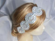Wedding Headband Bridesmaid silver sequin by SULTANHAIR on Etsy, $22.00