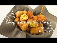 Croquetas de Verduras Caseras y muy faciles de preparar - Recetas de Cocina por Chef de mi Casa.com - YouTube