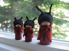 Ladybug family by LittleWool on Etsy, $35.00