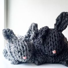 Giant Arm Knit Bunny Video Tutorial & Discount Code Finally, a Giant Arm Knit Bunny video tutorial showing exactly how to arm knit, keep your stitches tight and construct the bunny. Finger Knitting Projects, Crochet Projects, Crochet Crafts, Yarn Crafts, Crochet Toys, Crochet Ideas, Fun Projects, Project Ideas, Craft Ideas