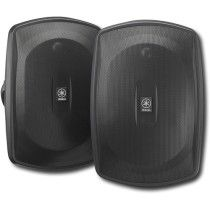 """Yamaha Natural Sound 6-1/2"""" 2-Way All-Weather Outdoor Speakers (Pair) Black NS-AW390BL - Best Buy"""