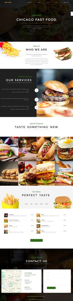 Chicago is a powerful, modern and creative 9 in 1 Bootstrap HTML #template for #burger #fastfood Restaurant or cafes website download now➯ https://themeforest.net/item/chicago-multipurpose-restaurant-template/16350669?ref=Datasata