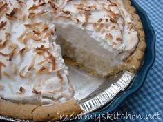 Mommy's Kitchen - Country Cooking & Family Friendly Recipes: Old Fashioned Coconut Cream Pie, Oh My