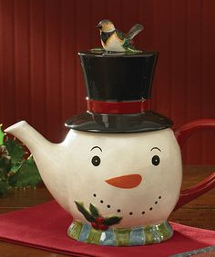 Take a look at this Park Designs Winter Magic Teapot by Park Designs on today! Christmas China, Christmas Dishes, Christmas Tablescapes, Christmas Tea, Tea Cup Saucer, Tea Cups, Teapot Cookies, Cute Teapot, Teapots Unique