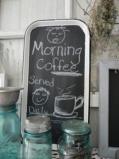 Another cute black board idea