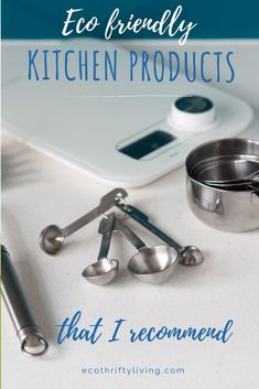 Check out these must have eco-friendly kitchen products. Perfect for the plastic free, zero waste, sustainable home and may save you money in the long run.