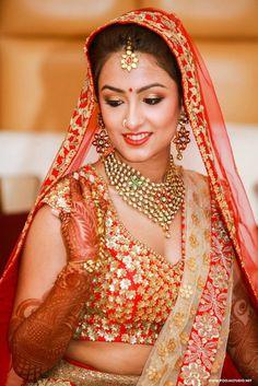 Style studio by shalini singh, bridal makeup artist in delhi Indian Bridal Wear, Asian Bridal, Indiana, Ethnic Fashion, Indian Fashion, Bridal Poses, Sikh Wedding, Bride Portrait, Bridal Lehenga