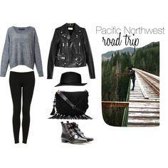 """Pacific Northwest Road Trip Outfit"" by happysolez on Polyvore"