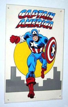 1974/1985 RARE VINTAGE ORIGINAL JOHN ROMITA SR CAPTAIN AMERICA MARVEL UNIVERSE COMIC BOOK ART POSTER 1:MARVELMANIA, $149.99
