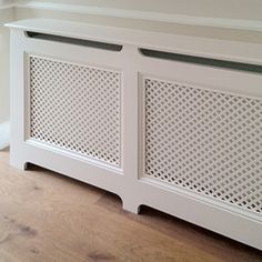 a classic Victorian one piece radiator cover Living Room Shelves, New Living Room, Classic Home Decor, Classic House, Under Stairs Nook, Victorian Radiators, Home Radiators, Alcove Cabinets, Colored Glass Bottles