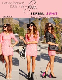 Sara from Love by Lynn styled our Lovers + Friends Sway back dress 3 different ways!