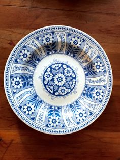 Rare ANTIQUE WEDGWOOD PLATE decorative blue and by DigitalAlice