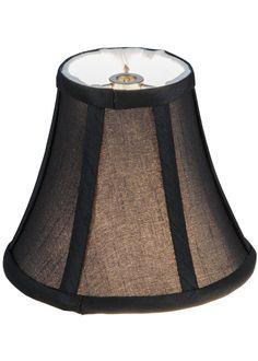 6 Inch W X 5 Inch H Trumpet Black Fabric Shade