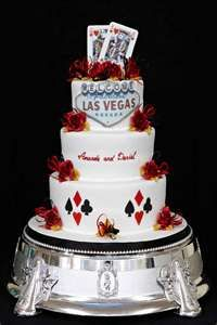 Great custom cake for a Las Vegas Wedding or Casino Styled Event.