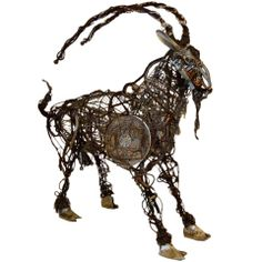 "Contemporary Sculpture, ""Mouli"" the Goat by Richard Dawson-Hewitt"