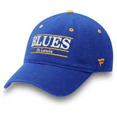 71b3a8db0c6360 Men's St. Louis Blues Fanatics Branded Blue Primary Bar Adjustable Hat,  Your Price: