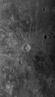 Copernicus and its rays. Moon Texture, Planets And Moons, Moon Surface, Astronomy Pictures, Aesthetic Space, Stone World, Planets Wallpaper, Moon Missions, Moon Landing