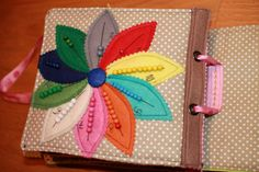 Counting beads on petals. Lovely Quiet Book - inspired by Tinkerbell