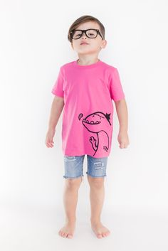 Love this! Gender neutral, Chompers tee by Quirkie Kids. Get yours at: http://www.quirkiekids.com/#!product/prd14/1887232455/chompers---pink