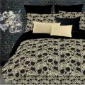 Skull Bedding for Girls Comforter Set Twin XL Full Queen Bed In a Bag Gothic Black Tan