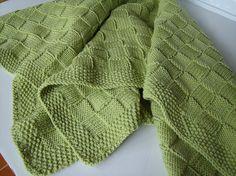 Lime Basketweave Knit Baby Blanket | Flickr - Photo Sharing!