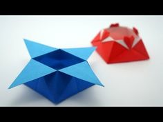 Origami Star Box (traditional model) - YouTube