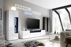 Living room unit / modern entertainment center / modern tv wall unit at t. Living Room Units Modern, Home Living Room, Living Room Units, Modern Wall Units, Modern Entertainment Center, Men Home Decor, Home And Living, Wall Unit, Living Room Tv