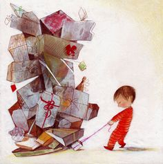 Biglietti di Natale Children's Book Illustration, Book Illustrations, Childrens Books, Funny Pictures, Artist, Christmas, Painting, Ideas, Humor