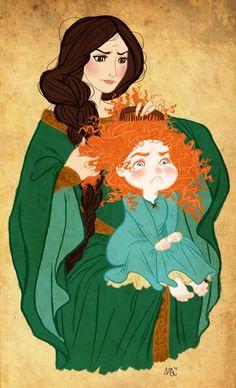 Merida and her mum