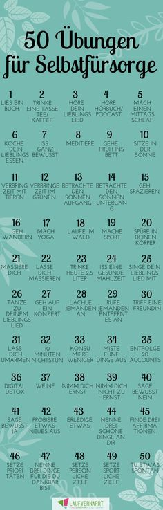 Learning self-care - 50 exercises for self-care - running .-Selbstfürsorge lernen – 50 Übungen für Self Care – Laufvernarrt Learn self-care – with these 50 self-care exercises you can also take care of yourself :] - Yoga Fitness, Fitness Exercises, Hiit, Good To Know, Feel Good, Self Care Routine, Health Quotes, Best Self, Take Care Of Yourself