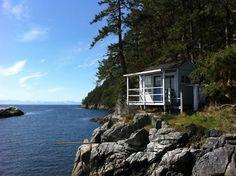 Island cottage north of Vancouver, British Columbia.