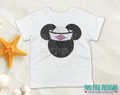 Mickey Mouse Sailor Hat SVG Cut File Set